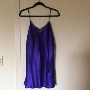 Dark Purple Silk Lingerie Slip